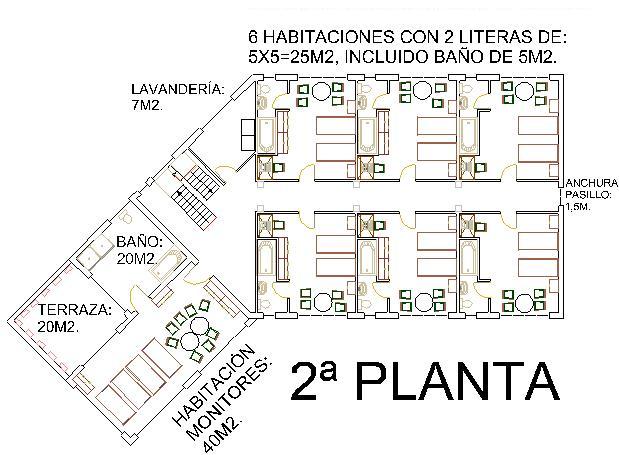 El lugar for Hoteles en planta
